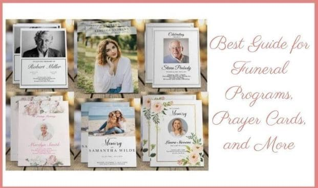 Funeral Programs, Prayer Cards